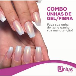 COMBO – UNHAS DE GEL/FIBRA – UNHAS DESIGN