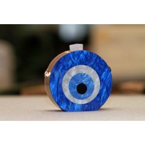 Clutch Redonda em acrilico Olho Grego