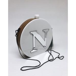 Clutch Redonda com Letra, Nome ou Logo