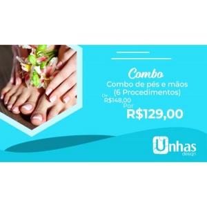 COMBO 9: PES E MAOS (06 PROCEDIMENTOS)
