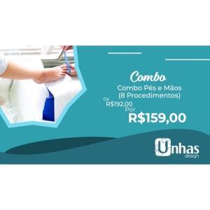 COMBO 3: PES E MAOS (08 PROCEDIMENTOS)