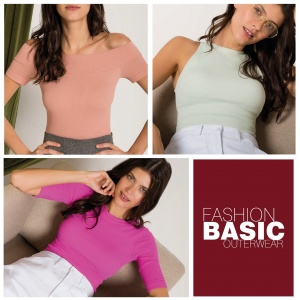 R$ 265,00 Combo de 3 blusas fashion basic